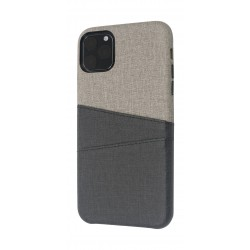 EQ iPhone 11 Pro Blank Pocket Back Case - Grey/Black