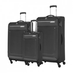 American Tourister Jackson Spinner Soft Luggage Black Set in Kuwait | Buy Online – Xcite