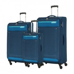 American Tourister Jackson Spinner Soft Luggage Blue Set in Kuwait | Buy Online – Xcite