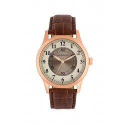 Jean Bellecour 42mm Analog Gents Leather Watch (JB1043) - Brown