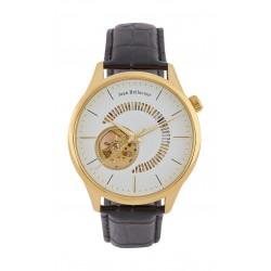 Jean Bellecour 45mm Open Hart Analog Gent's Leather Watch - JB1116