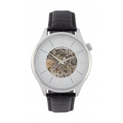 Jean Bellecour 45mm Squelette Analog Gent's Leather Watch - JB1124