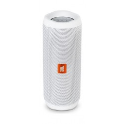 JBL Flip 4 Waterproof Bluetooth Portable Speakers (JBLFLIP4WHT) - White front view