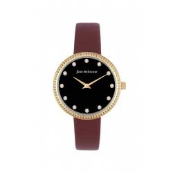 Jean Bellecour 34mm Analog Ladies Leather Watch (JBP1918) - Brown