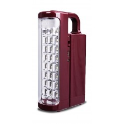 Wansa LED Rechargeable Emergency Light – Maroon