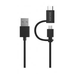 Kanex Micro-USB- USB-C Charge and Sync Cable 1.2 M - Black