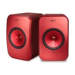 KEF LSX 100W Wireless Bluetooth Music System - Red