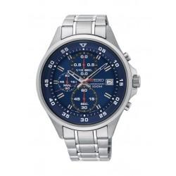 Seiko KS625P Gents Quartz Chronograph Watch Metal Strap - Silver