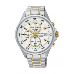 Seiko KS629P Gents Quartz Chronograph Watch Metal Strap - Silver