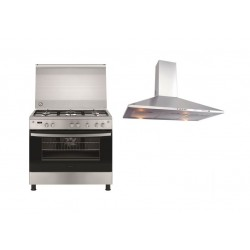 Frigidaire 90x60 5-Burner Free-Standing Gas Cooker + Frigidaire 90cm Chimney Cooker Hood