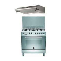 Lagermania 80X50 Gas Cooker + Lagermania 80 x 50 Cooker Hood - Stainless Steel