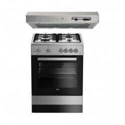 Beko 60X60 4 Burner Gas Cooker + Indesit 60cm Cooker Hood
