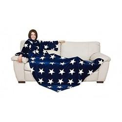 Lavatelli Kanguru Deluxe Stars Blanket (1099) - Blue
