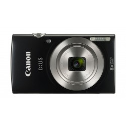 Canon IXUS 185 Digital Camera, 20MP 2.7-inch LCD Display – Black Front View