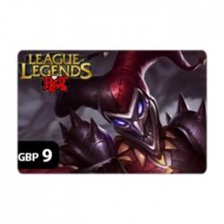 League Of Legends - GBP9 Riot Points Card