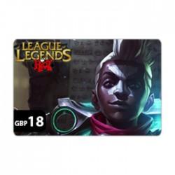 League Of Legends - GBP18 Riot Points Card