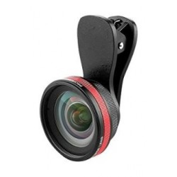 Lieqi LQ-033 BLK 2-in-1 Wide-Angle Lens - Black