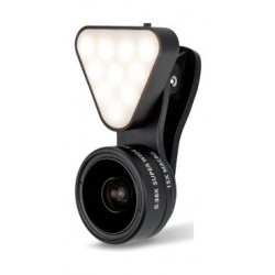 Lieqi Wide Angle + 10x Macro + LED Flash Phone Lens (LQ-041) - Rose Gold