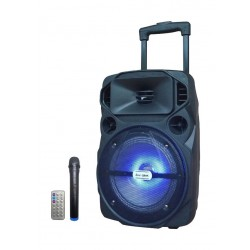 NHE 5000W 8-inch Wireless Bluetooth Trolley Speaker (LIGE-Q8AK) - Black