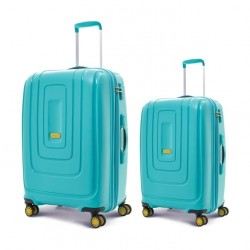 American Tourister Lightrax 55CM + 79CM Hard Luggage (AD8X64006) - Turquoise