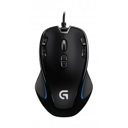 Logitech G300s Optical Ambidextrous Wired Gaming Mouse - Black
