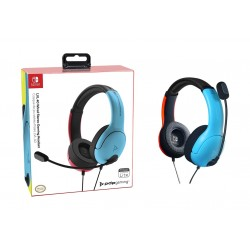 LVL40 Wired Stereo Headset for Nintendo Switch - Blue Red
