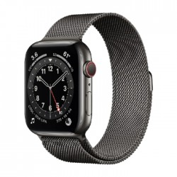 Apple Watch Series 6 Cellular 44mm Stainless Steel Case with Graphite Milanese Loop in Kuwait | Buy Online – Xcite