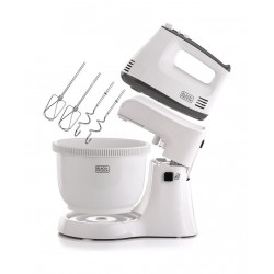 Black + Decker Stand Mixer 300W with 3.5L Bowl - White (M700)