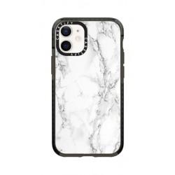 Casetify White Marble iPhone 12 Mini Back Case - White
