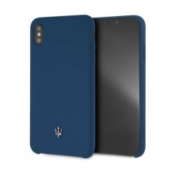 Maserati Silicone Case For iPhone XS Max - Navy Blue