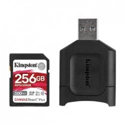 Kingston Canvas React Plus Memory Card 256GB SDXC+SDR2 300R/260W UHS-II+ SD Reader