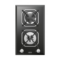 Lofra 30cm 2-Burner Built-in Gas Hob (HGN320) - Black