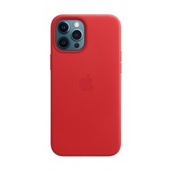 Apple iPhone 12 Pro Max Leather Case with MagSafe - Red