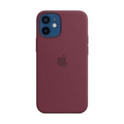 Apple iPhone 12 Mini MagSafe Silicone Case - Plum