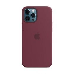 Apple iPhone 12 Pro Max MagSafe Silicone Case -  Plum