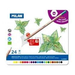 Milan Metal Box Big Lead Colored Pencils - 24 Colors