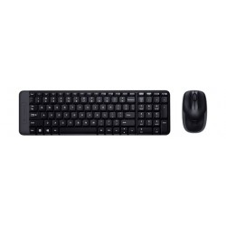 Logitech MK220 Wireless Mouse & Keyboard Combo - Black
