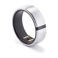 Motiv Waterproof Fitness Smart Ring Tracker (Size 8) - Silver
