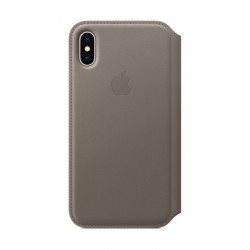 Apple Leather Case For iPhone 10  (MQRY2ZM/A) - Taupe