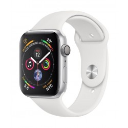 Apple Watch Series 4 GPS + Cellular, 44mm Aluminum White Sport Band