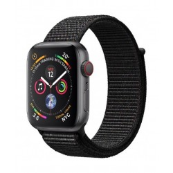 Apple Watch Series 4 GPS + Cellular, 44mm Space Grey Aluminum Case With Silver Sport Band