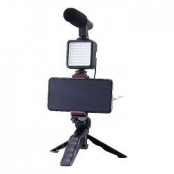 Muvit-Tripod-Microphone-LED flash-SmartPhone-Foldable
