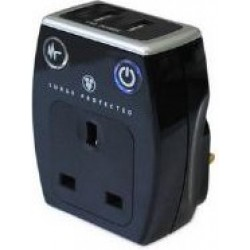 Masterplug SRGAUSBPB-MP Surge Protected Mains USB Charger