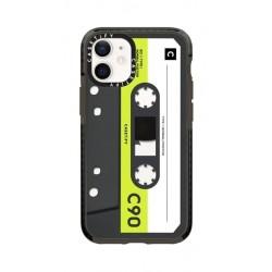 Casetify Cassette iPhone 12 Mini Back Case - Neon Remix
