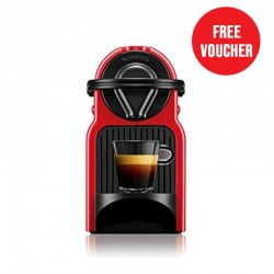 Nespresso Inissia Coffee Machine - Red (C40-ME-RE-NE) + Nespresso Free Voucher