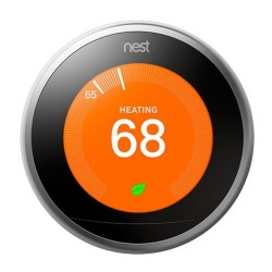 Google Nest Learning Thermostat 3rd Generation - Stainless Steel