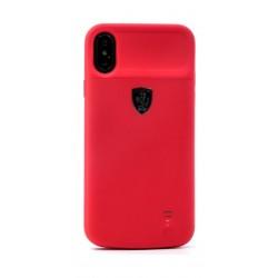 Ferrari Full Cover Power Case for Apple iPhone X - Red