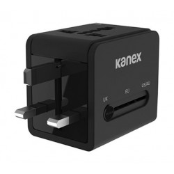 kanex 4-in-1 Power Adapter with 2 USB Ports (K160-1057-BK)