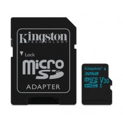 Kingston Canvas Go Class 10 U3 MicroSD Card + Adapter - 32GB