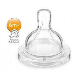 Original Philips Avent Classic+ Anti Colic Silicon Teat 2pcs - 6m+